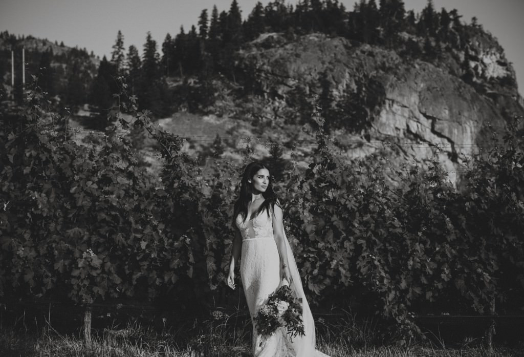 Bridal Portraits in Penticton Vineyard