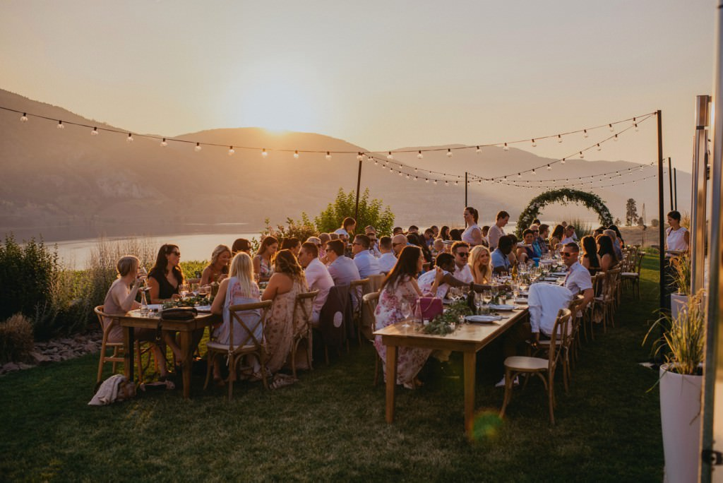 Sunset Reception at Painted Rock Winery