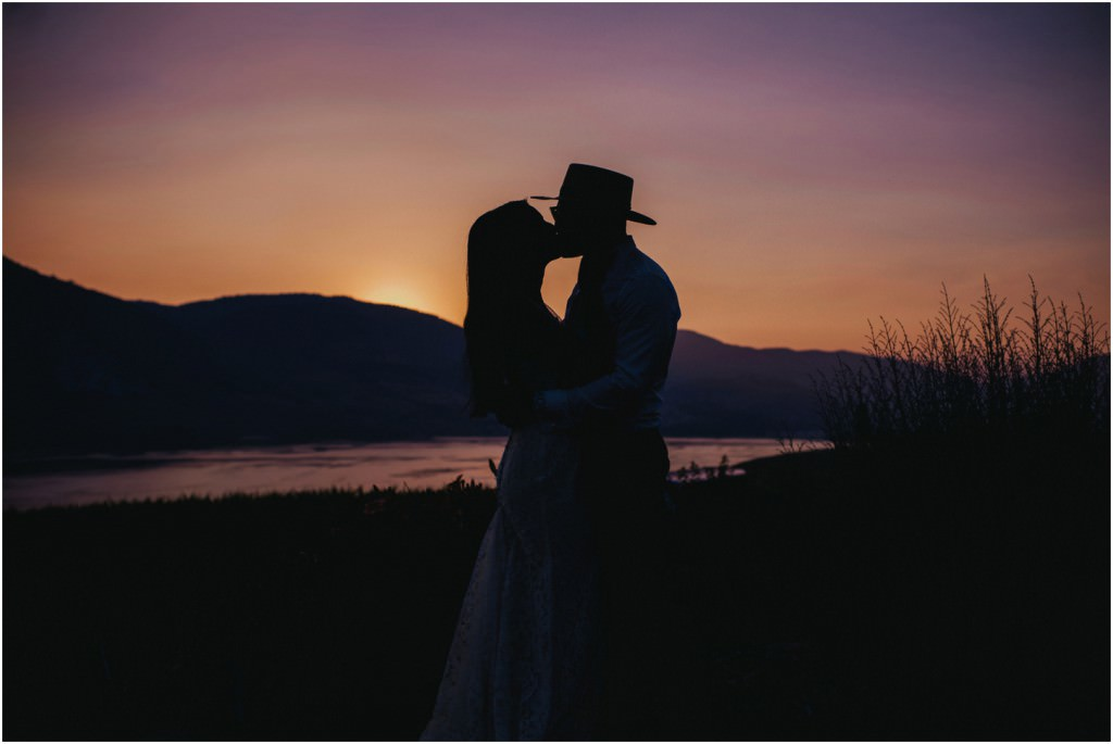 Mountain Valley Wedding Sunset
