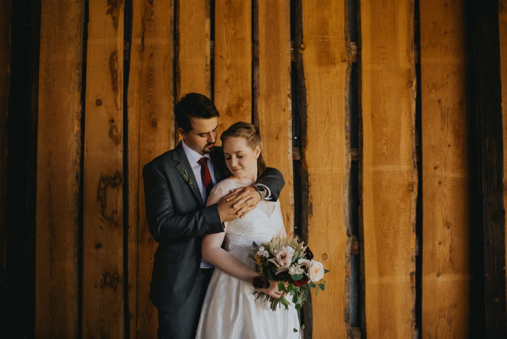 Intimate wedding portraits in Vernon Wedding