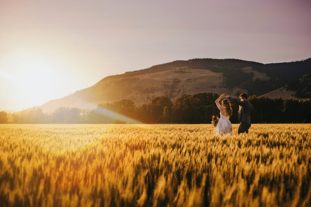 Dancing in the WheatField in the mountains