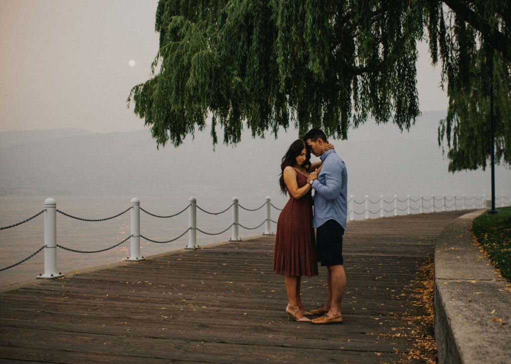 Kelowna Boardwalk Engagement