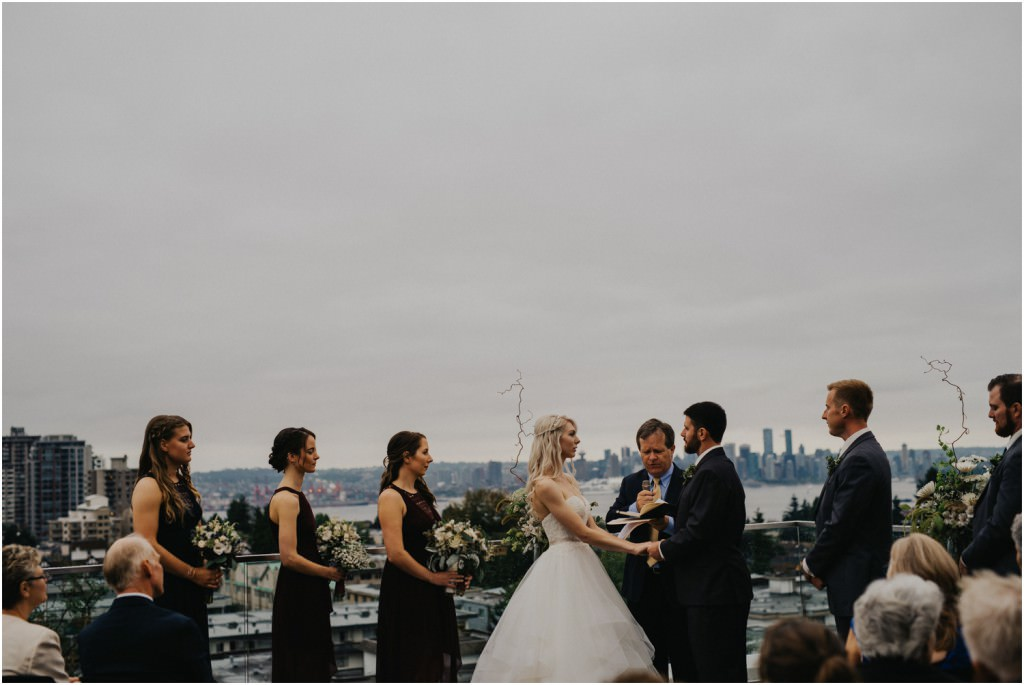 Vancouver rooftop ceremony wedding
