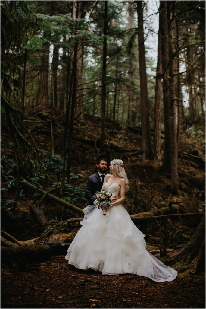 British Columbia Forest Wedding