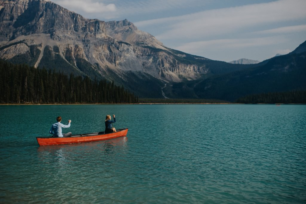 Canoe Rocky Mountain Engagement