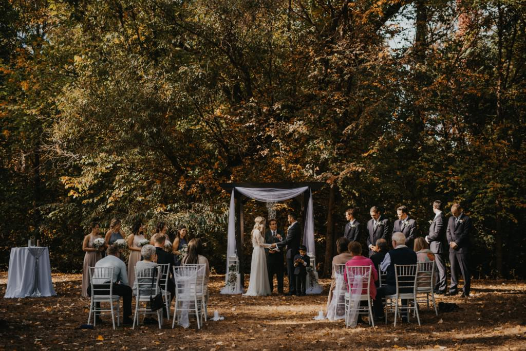 Coldstream Fall Wedding Ceremony
