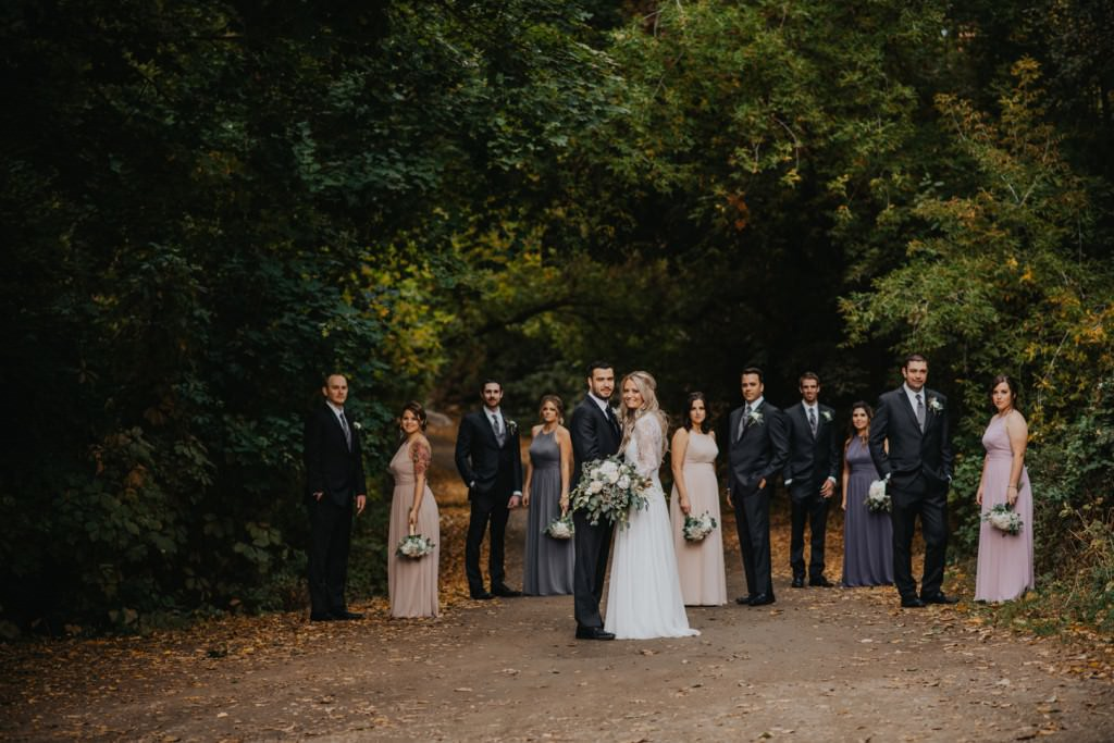 Vernon Bridal Party in Fall Colours
