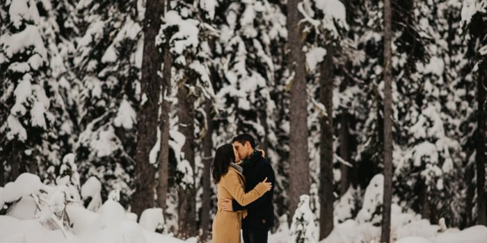 Okanagan Winter Engagement - Y&C