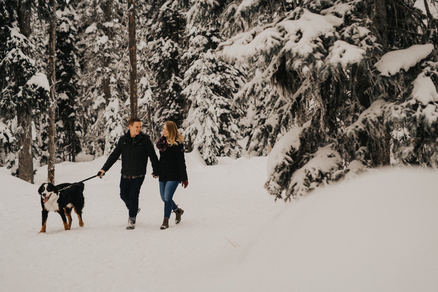 Snowy Forest Engagement - Kelowna Photographer_0004