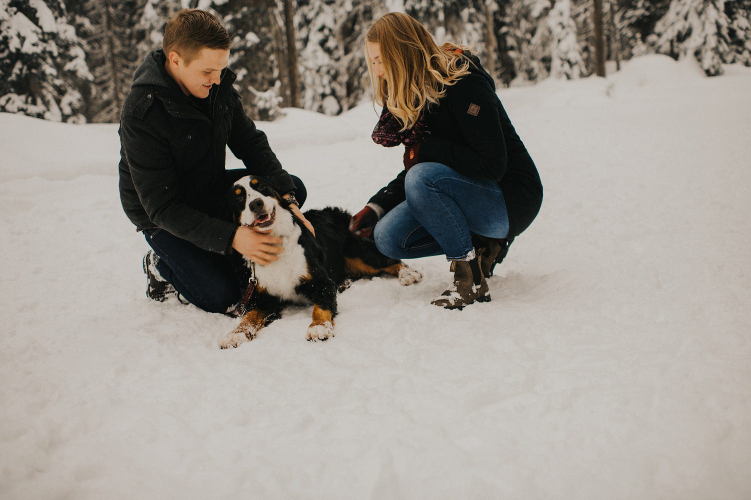 Snowy Forest Engagement - Kelowna Photographer_0009