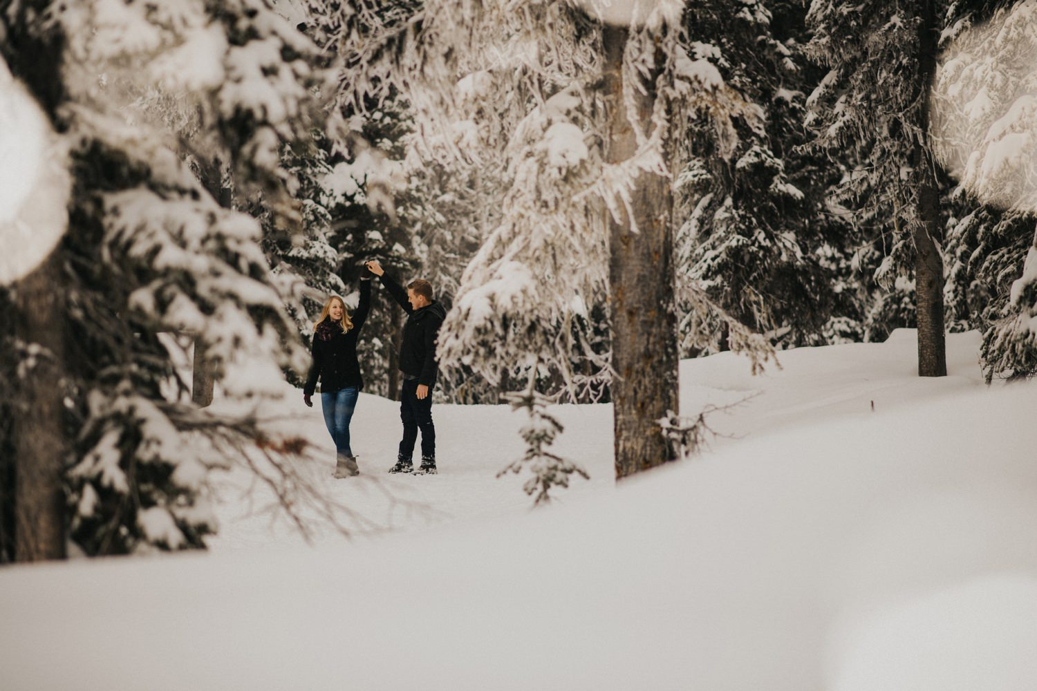 Kelowna Winter Engagement Session