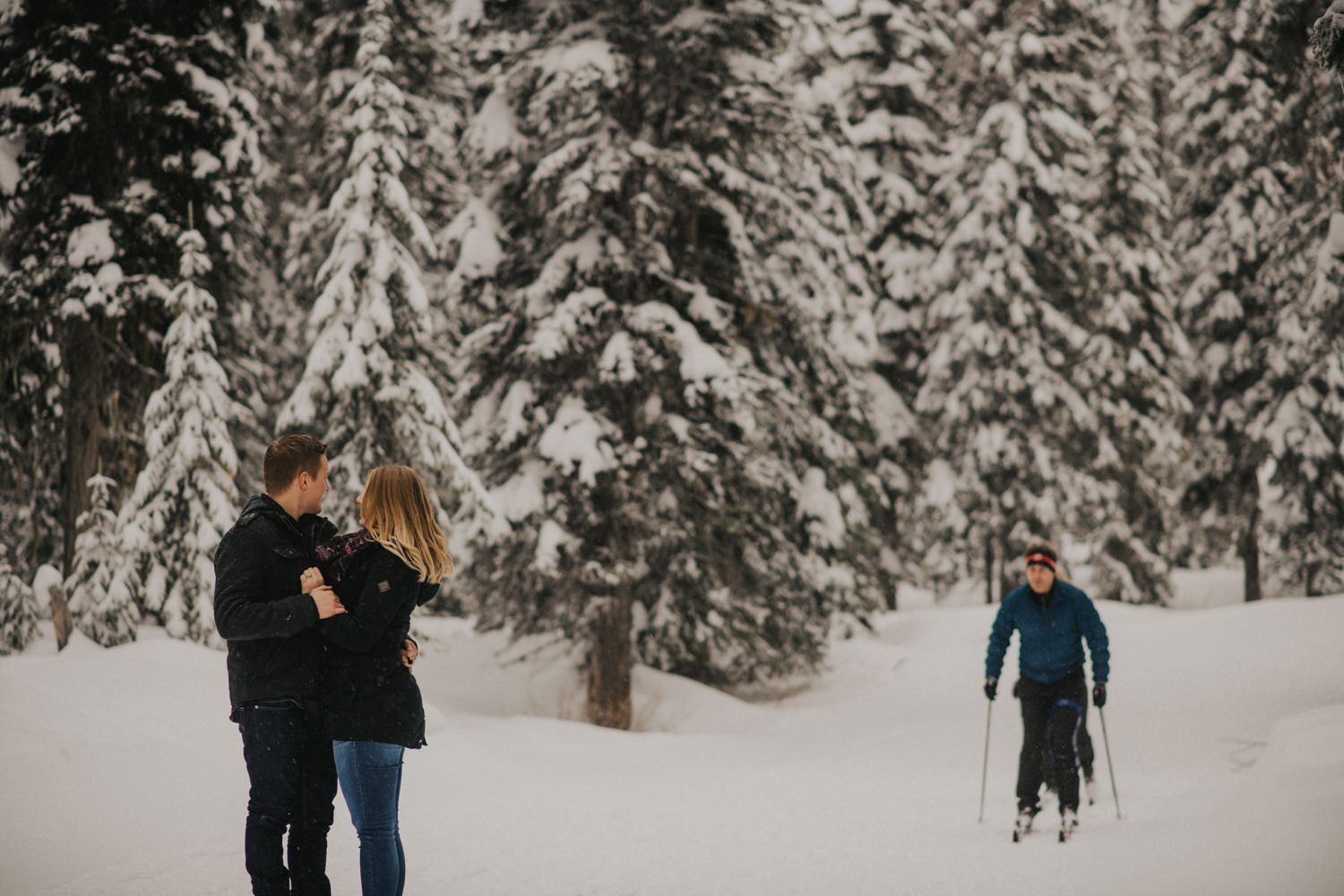 Snowy Forest Engagement - Kelowna Photographer_0017