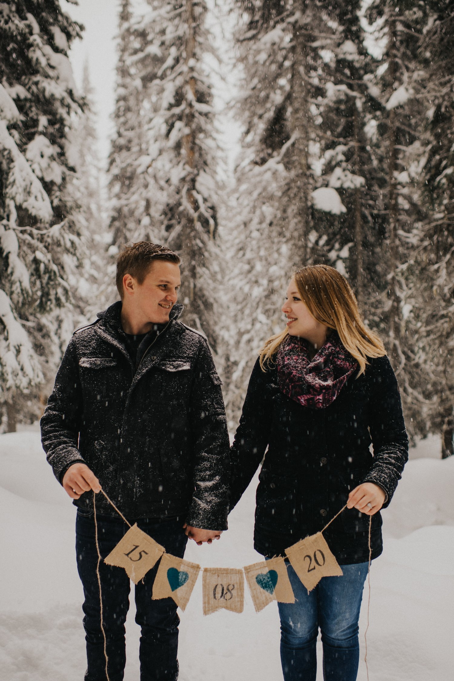 Snowy Forest Engagement - Kelowna Photographer_0021