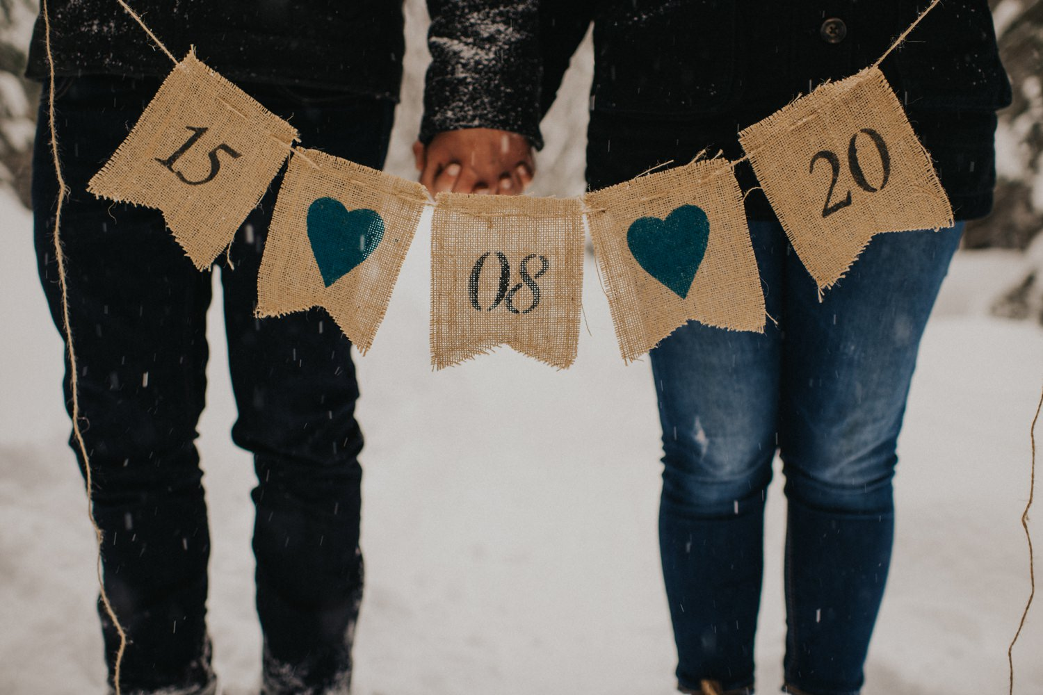 Snowy Forest Engagement - Kelowna Photographer_0022