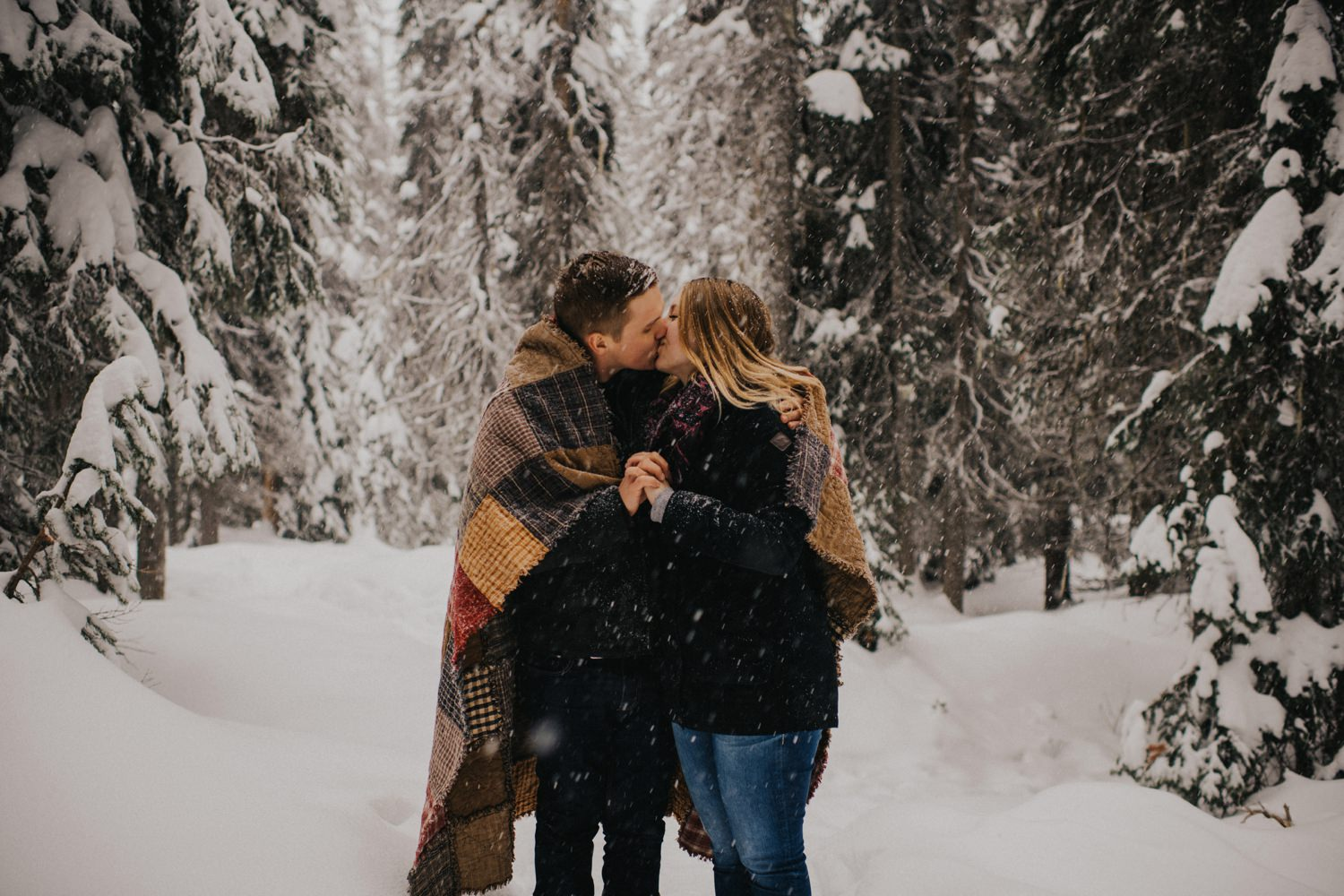 Snowy Forest Engagement - Kelowna Photographer_0024
