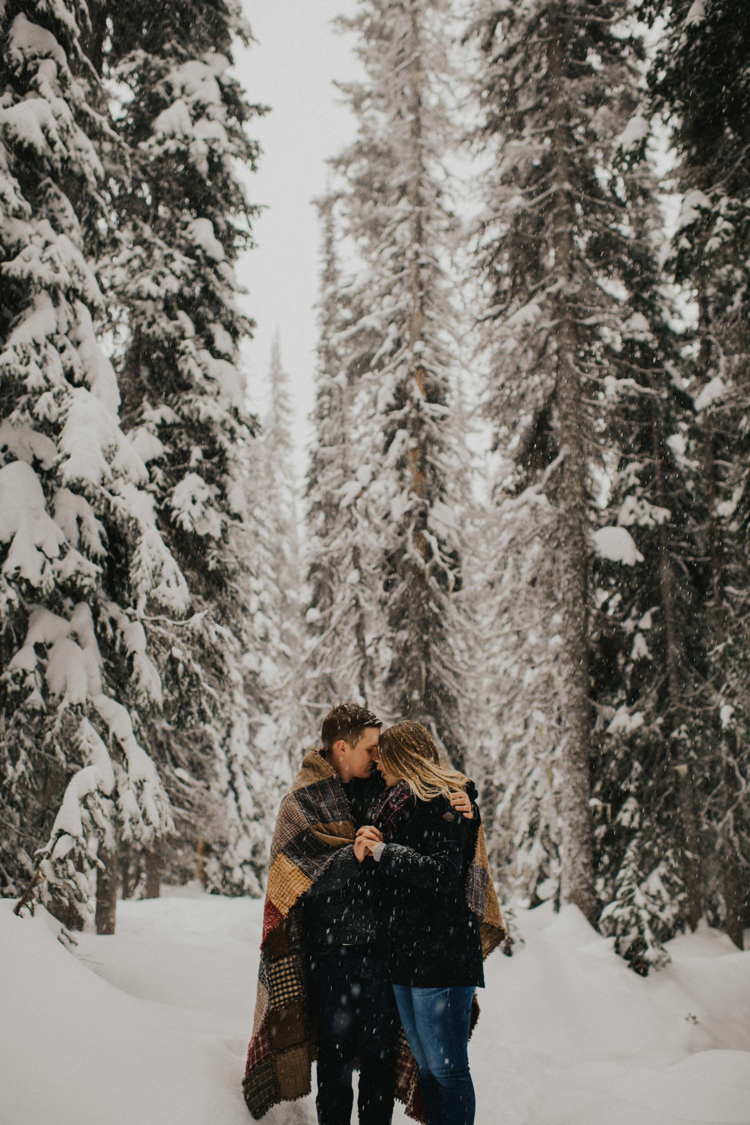 Snowy Forest Engagement - Kelowna Photographer_0025