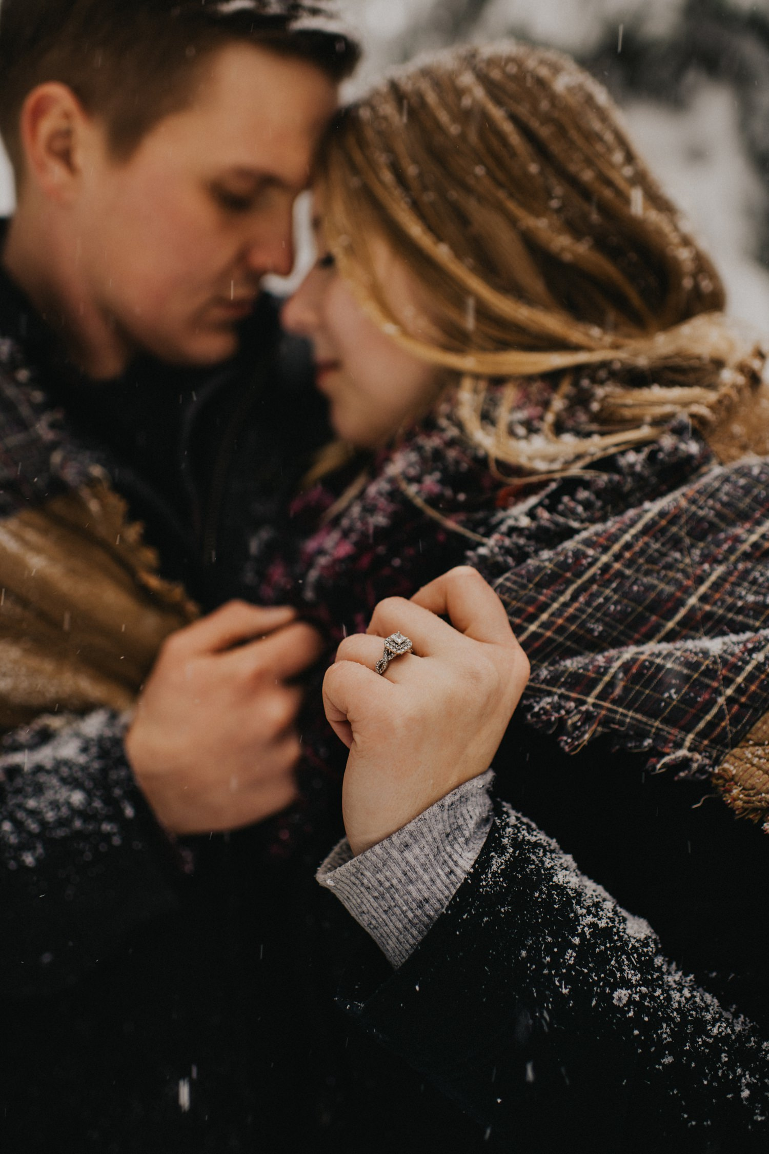 Snowy Forest Engagement - Kelowna Photographer_0028