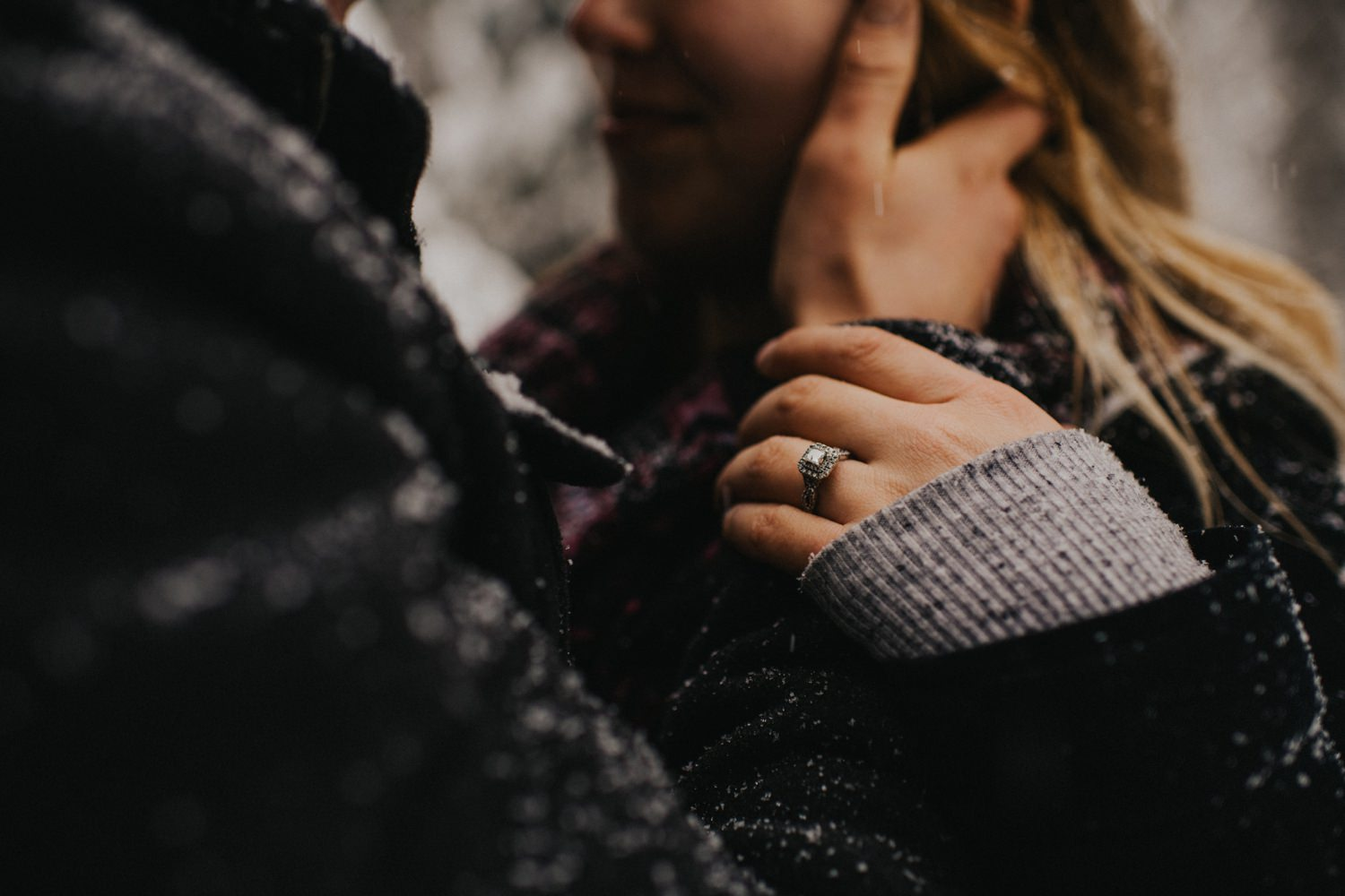 Intimate Winter Mountain engagement