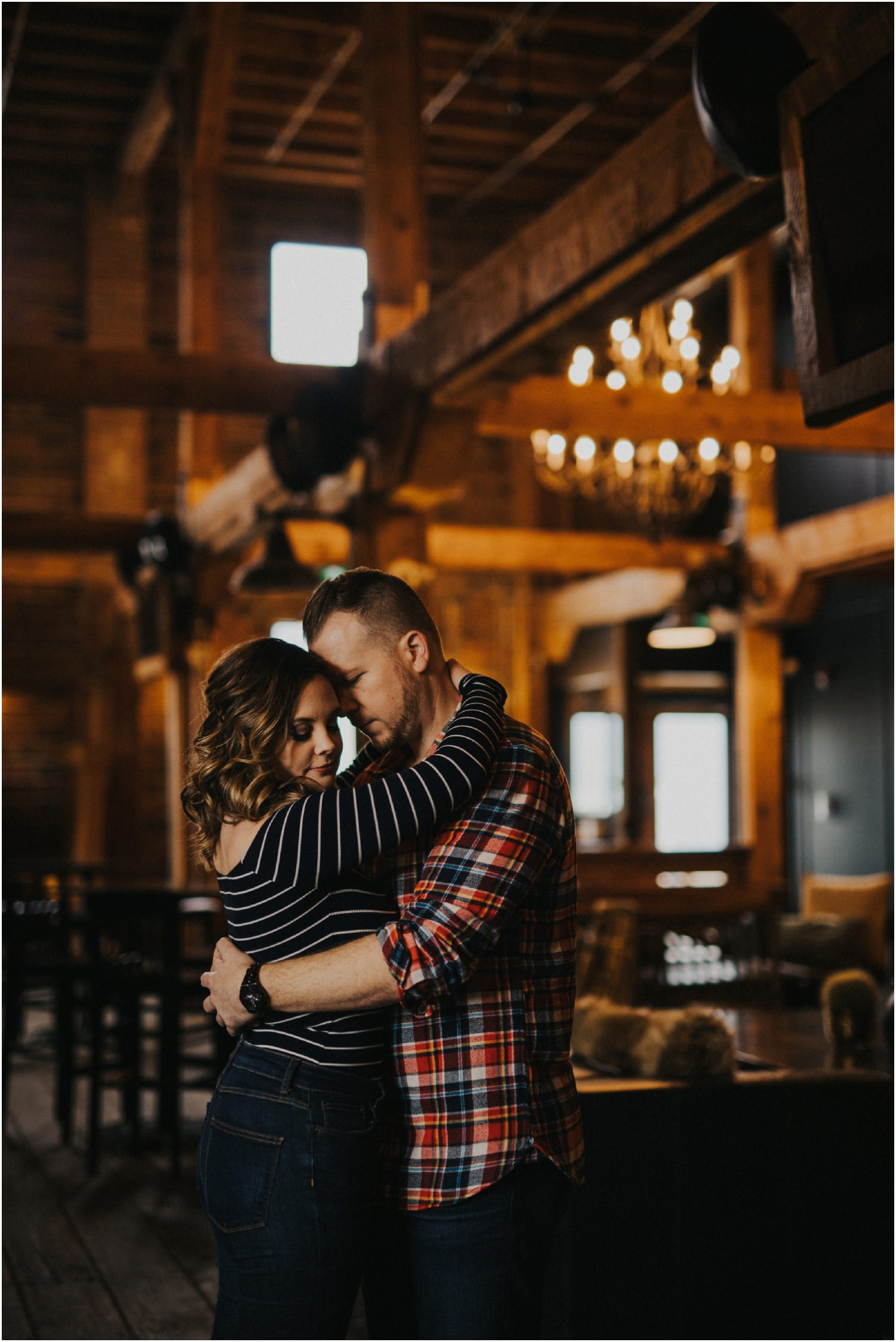 Kelowna Brewery Engagement Photos