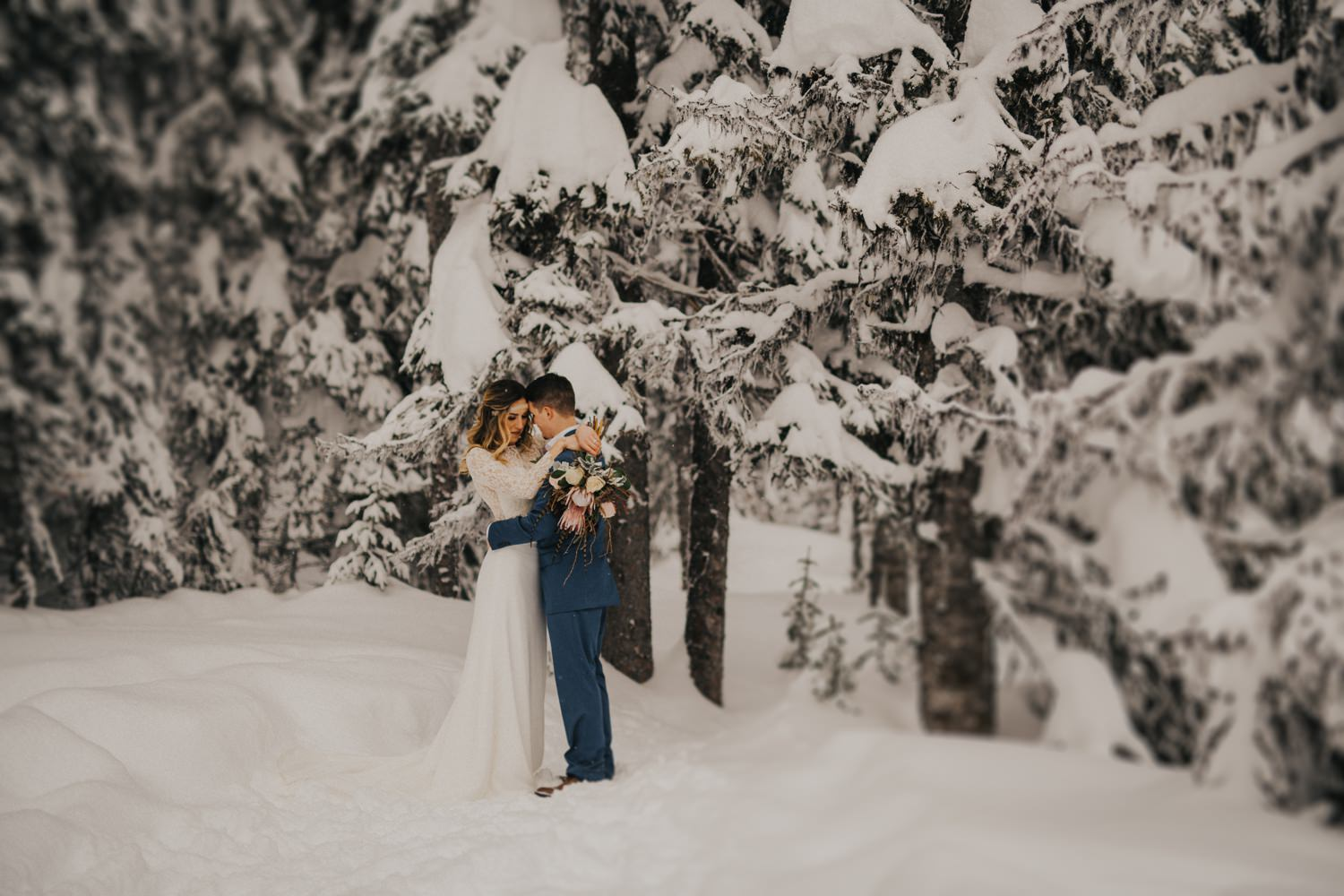 Intimate British Columbia Winter Elopement