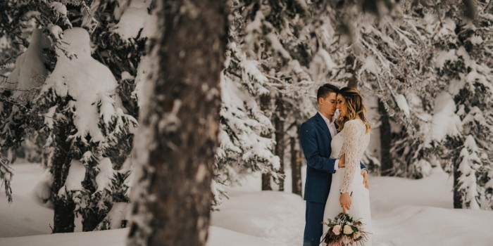 Okanagan Winter Elopement - C + K