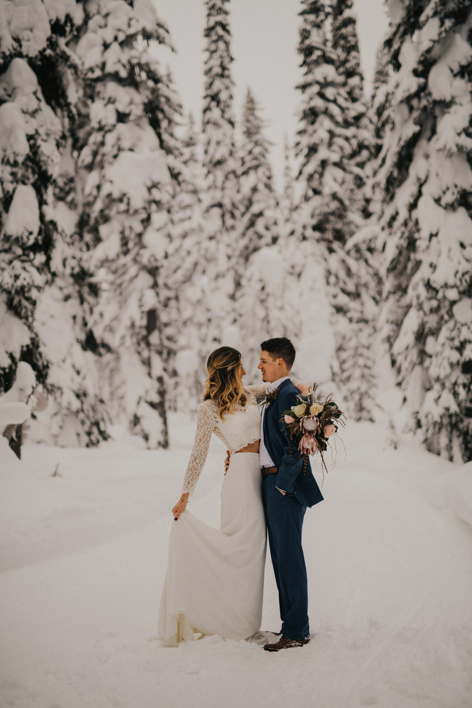 Winter Boho Bride Kelowna