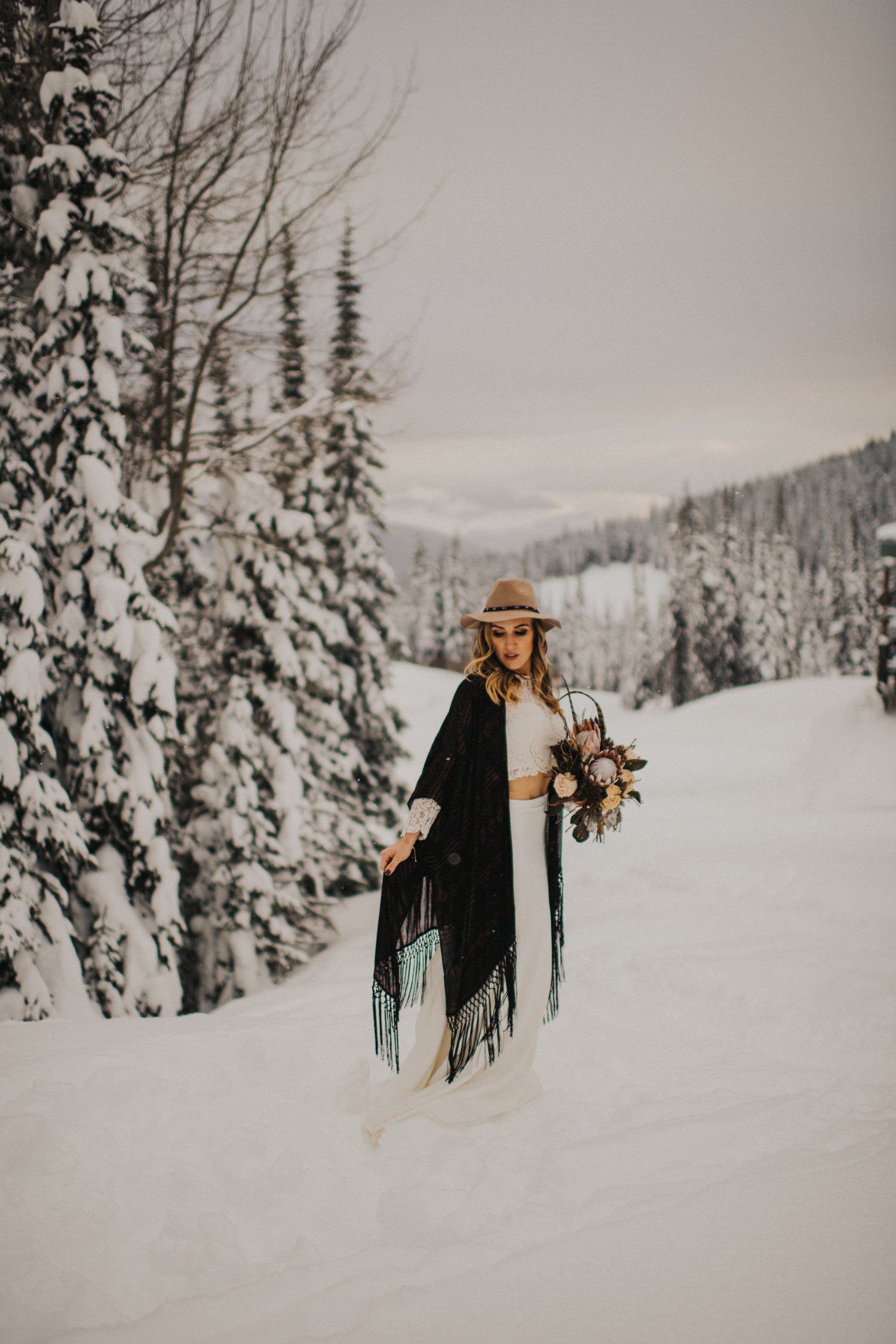 Boho Winter Bride