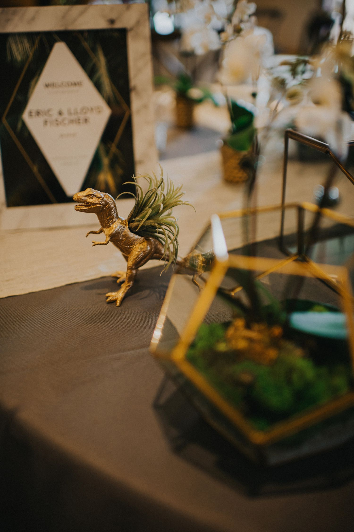 Dinosaur Themed Wedding