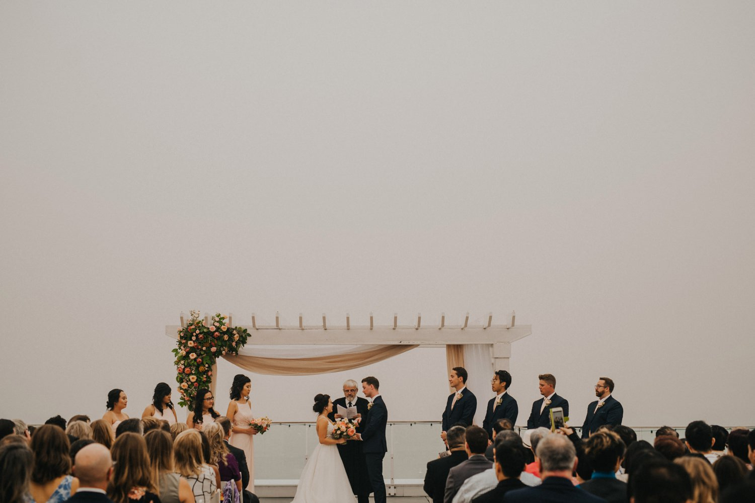 Forest Fire Smoke Wedding Ceremony