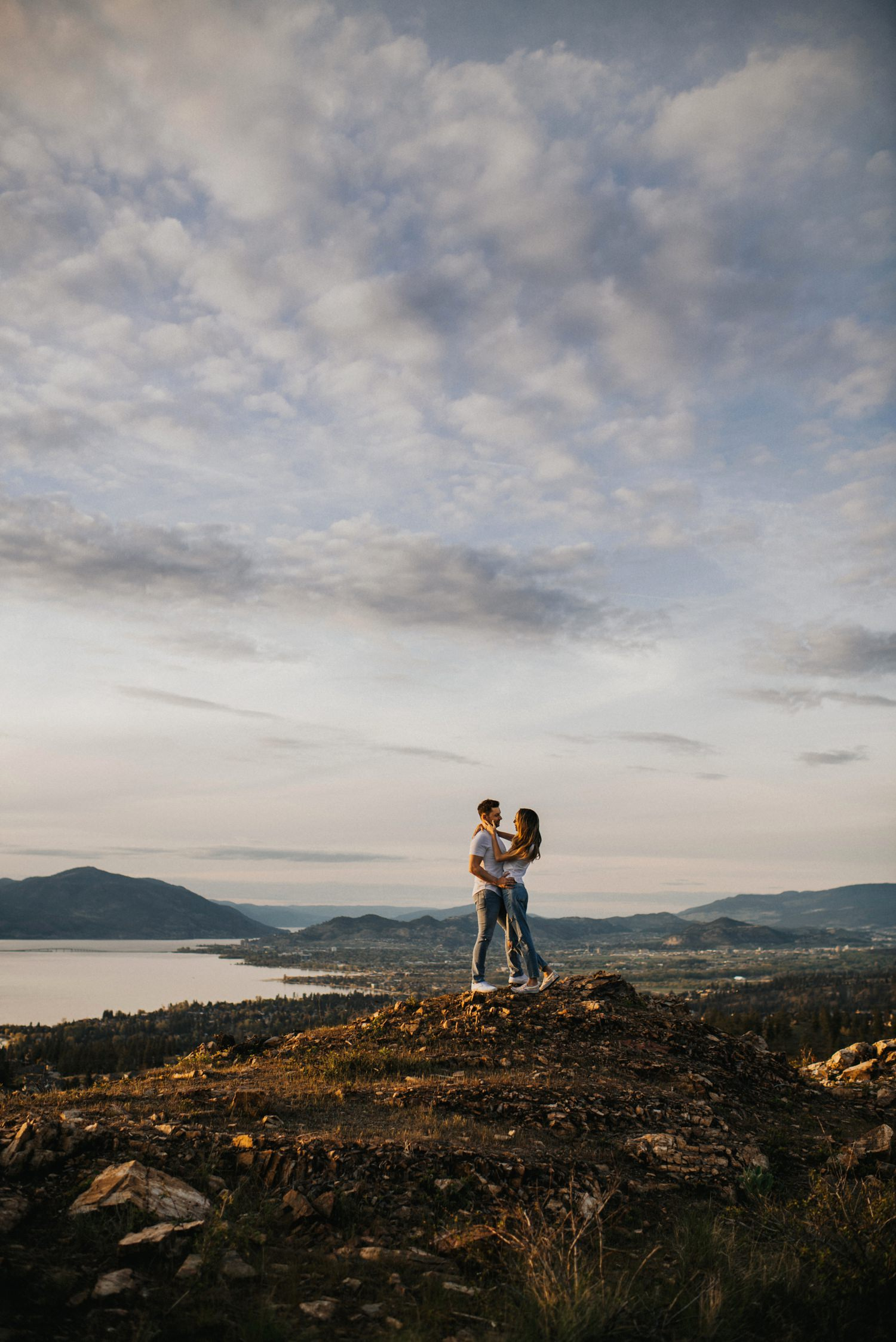Adventurous Kelowna Engagement photos