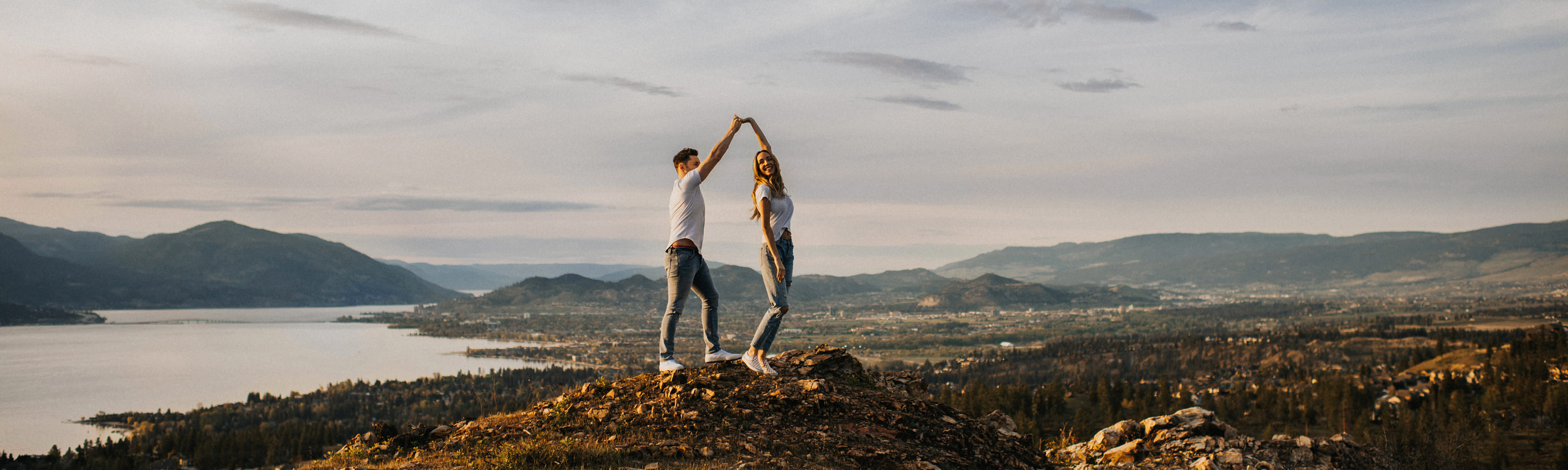 Mountain Top Kelowna Engagement