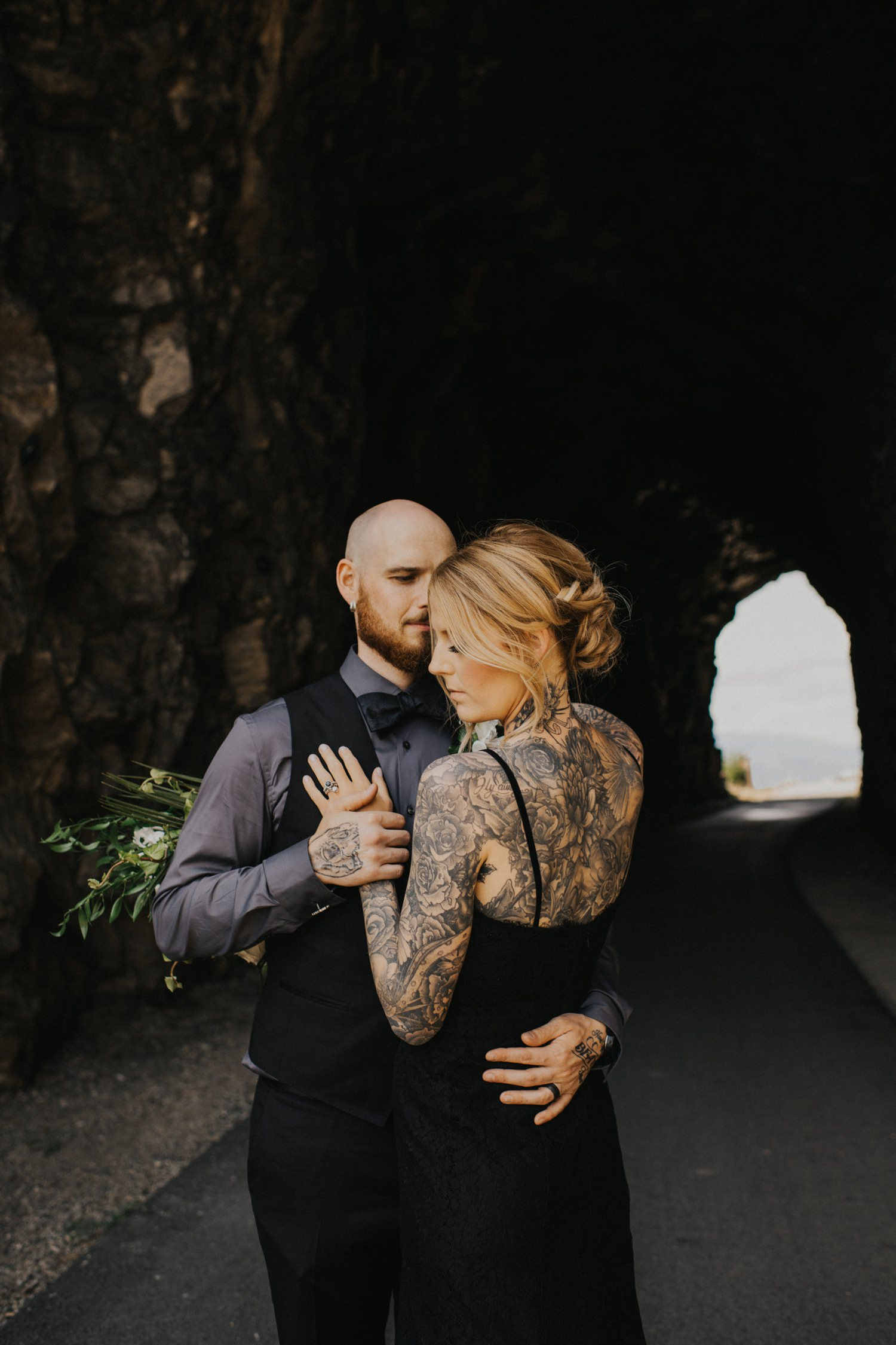 Tattooed Wedding Couple Photo