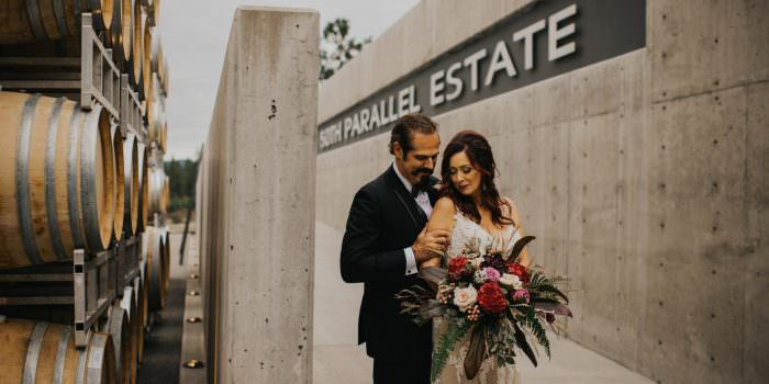 50th Parallel Winery Wedding - G&H