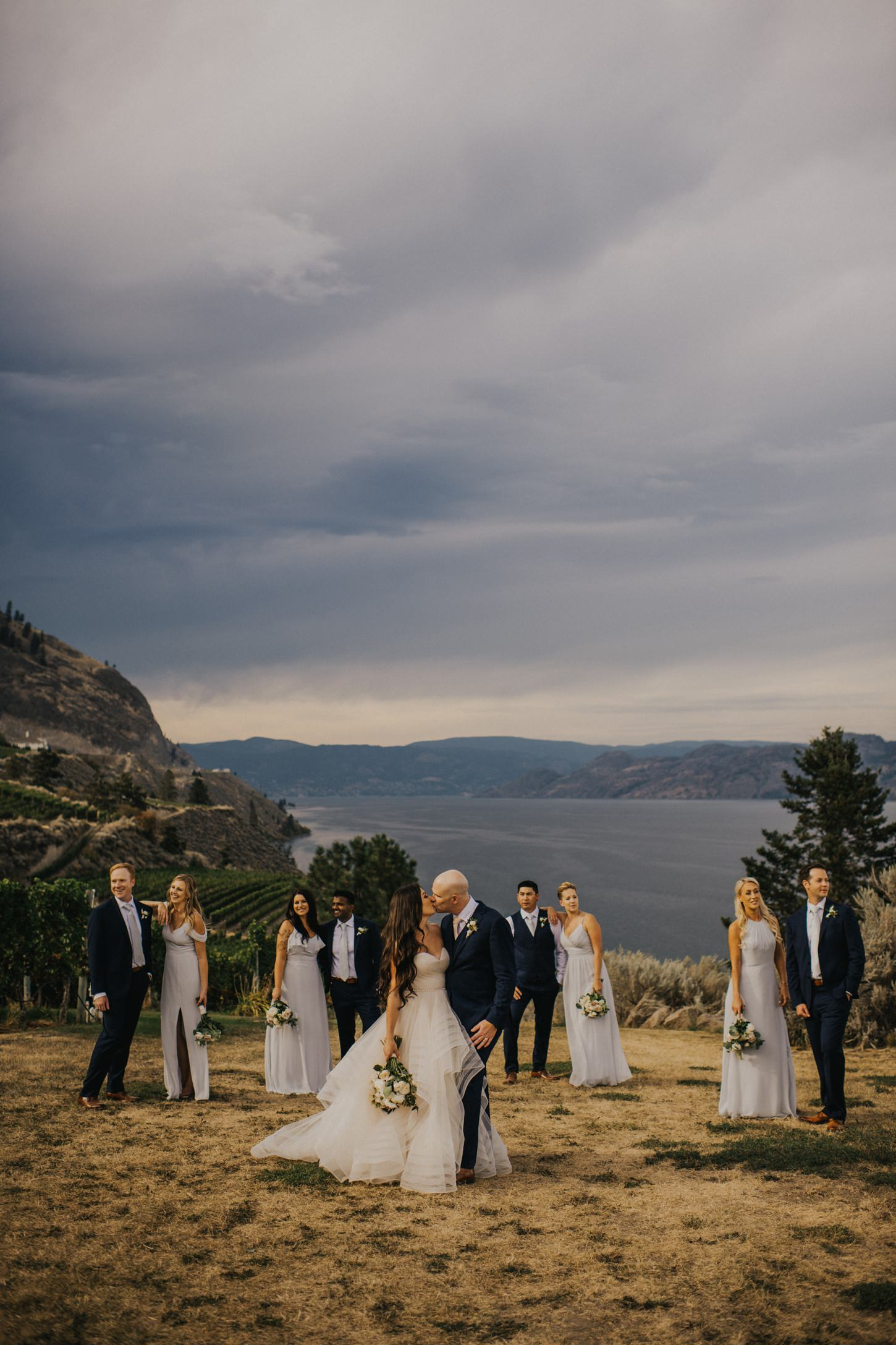 Wedding Party at Evolve Winery
