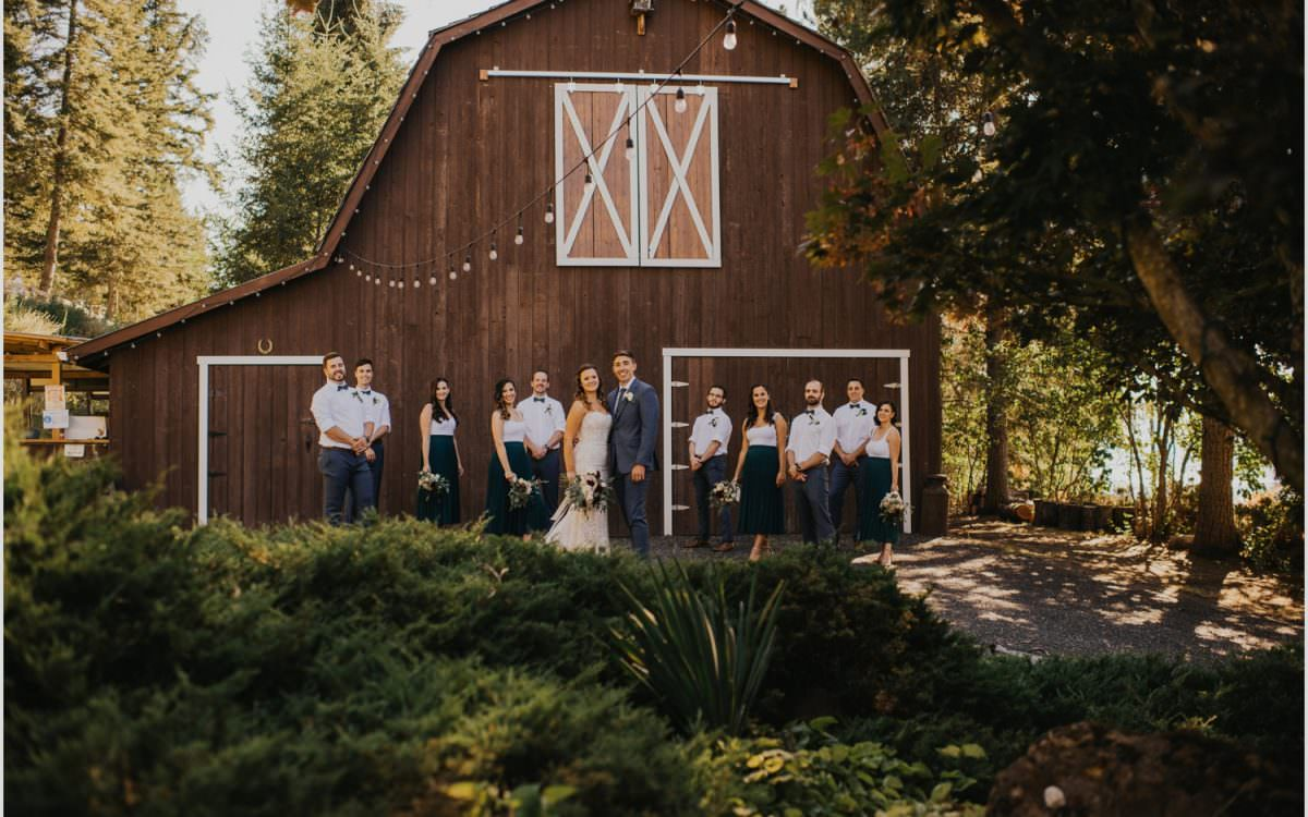 Barn Up The Hill Wedding - K&T