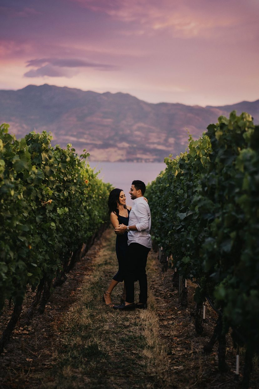 engagement session at quails gate winery