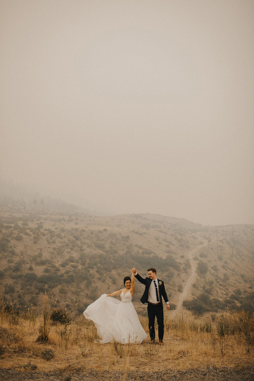 Forest Fire Wedding Day