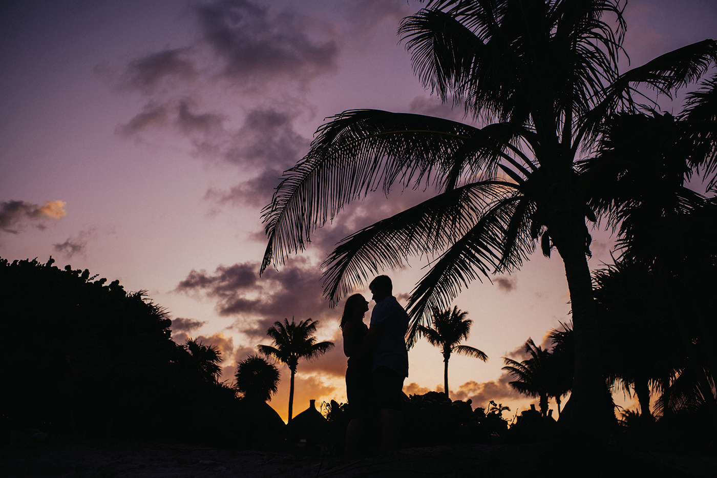 Oceanside Engagement session in Tulum Mexico