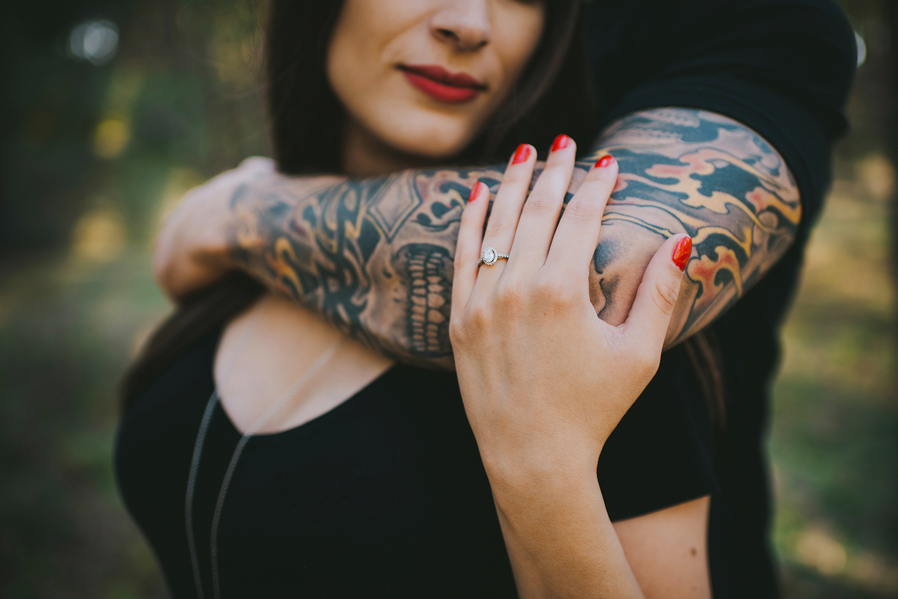 Tattooed Okanagan engagement session